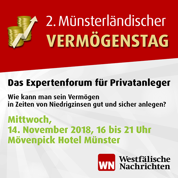 Eintrittskarte für 2. Münsterländischer Vermögenstag am 14. November 2018 in Münster